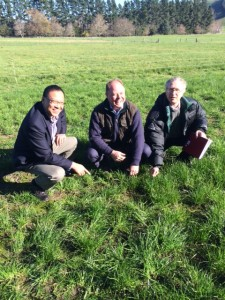 From L to R: Thomas Chin GM NZPBRA, Hon Craig Foss Minister of Commerce, Pedro Evans Chair of the Forage Technical Committee